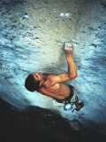Man Rock Climbing in the Big Horn Mountains of Wyoming Photographic Print by Bobby Model