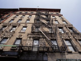 Looking Up at an East Village Apartment Building with Fire Escapes, New York Photographic Print by Jason Edwards