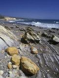 Rock Formation on Venadito Beach, California Photographic Print by Rich Reid