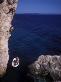 Male Rock Climbing on the Coast of Hvar, Croatia Photographic Print by Bobby Model