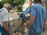 Men Pour a Concrete Driveway in Lincoln, Nebraska Photographic Print by Joel Sartore