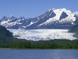 Mendenhall Lake, Mendenhall Towers, Glacier and Mount Wrather, Alaska Photographic Print by Rich Reid