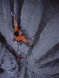 Man Rock Climbing in Paklenica National Park in Croatia Photographic Print by Bobby Model