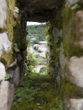 Moss Covered Battlement Hole in Ancient British Fort in Nicaragua Fotografisk tryk af David Evans