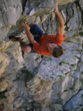 Man Rock Climbing in Paklenica National Park, Croatia Photographic Print by Bobby Model