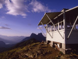 Mount Hozomeen and Desolation Peak Fire Lookout Cabin, Washington Photographic Print by David Pluth