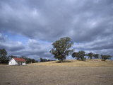 Lonely Weatherboard Farmhouse Rests in a Parched Country Field, Australia Photographic Print by Jason Edwards