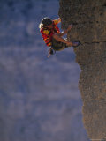 Man Rock Climbing in Wyoming Photographic Print by Bobby Model