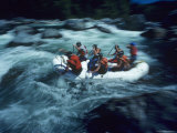 Rafting in Whitewater Rapids, Washington Photographic Print by Kenneth Garrett