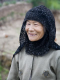 Muslim Rural Resident of Qinghai Province Smiling, China Photographic Print by David Evans