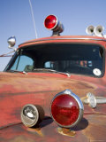 Old Firetruck with Peeling Red Paint, Emergency Lights, and Sirens Photographic Print by David Evans