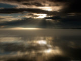 Sun Rays at Sunset in Chatam Strait, Motion Blur, Alaska Photographic Print by Ralph Lee Hopkins