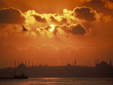 Sunrise over the Golden Horn in Bosporus Sea in Istanbul, Turkey Photographic Print by Richard Nowitz