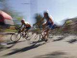 Professional Bike Riders During the Garrett Lemire Memorial Bike Race, California Fotoprint van Rich Reid
