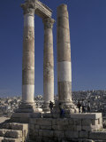 Temple of Apollo in Ancient Philadelphia in Amman, Jordan Photographic Print by Richard Nowitz