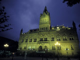 Town Hall at Night in Manchester, England Photographic Print by Richard Nowitz