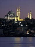 Suleymaniye Mosque Seen from Galata Bridge, Istanbul, Turkey Photographic Print by Richard Nowitz