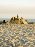 Sand Castle on East Beach, California Photographic Print by James Forte