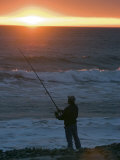 Sun Setting on Fisherman at el Capitan State Beach, California Photographic Print by Rich Reid