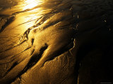 Sun Reflects on Patterns in the Sand, Ventura, California Photographic Print by Stacy Gold