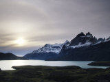 Sunset at Lago Pehoe in the Cuenos del Paine, Chile Photographic Print by Bill Hatcher