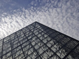 the Louvre Museum and the Im Pei Pyramid, Paris, France Photographic Print by  Brimberg & Coulson