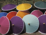 Umbrellas for Sale in Bangkok, Thailand Photographic Print by Richard Nowitz
