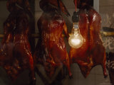 Roasted Ducks Hang in the Window of a Restaurant, Guangzhou, China Photographic Print by James L. Stanfield