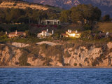 Sunset on Coastal Houses and the Santa Ynez Mountains, California Photographic Print by Rich Reid