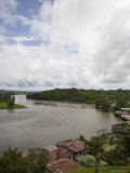 San Juan River Runs Past el Castillo, Nicaragua Photographic Print by David Evans