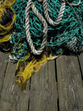 Tangle of Fishing Ropes and Nets on a Dock Photographic Print by Todd Gipstein