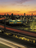 Traffic on Elevated Highway Route 75 in Houston, Texas Photographic Print by Richard Nowitz