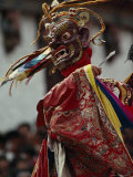 Masked Dancer Performs at the Buddhist Festival of Tshechu Photographic Print by James L. Stanfield