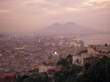 The City of Naples and Mount Vesuvius at the Bay of Naples in Italy Photographic Print by Richard Nowitz