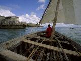Sailing Around Fort Sebastian, Mozambique Fotografisk tryk af James L. Stanfield