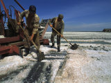 Men Work in the Salt Fields in Crimea Photographic Print by Sisse Brimberg