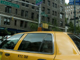 New York City Taxi as Seen from Inside Another Taxi Photographic Print by Todd Gipstein