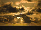 Sunrise over the South Pacific, French Polynesia Photographic Print by Tim Laman