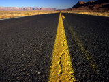 Lonley Stretch of Desert Road, Utah Photographic Print by Kate Thompson