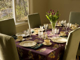 Table Set for Easter Brunch, Lexington, Massachusetts Photographic Print by Tim Laman