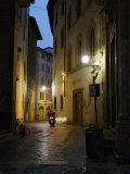 Street Scene at Night, Florence, Italy Photographic Print by  Brimberg & Coulson