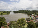 San Juan River Runs Past Remote Village of el Castillo in Nicaragua Photographic Print by David Evans