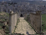 Street Columns in Cardo Maximus in Jerash, Jordan Photographic Print by Richard Nowitz
