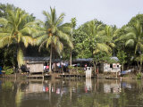 Reachable Only by Boat, A Village on Nicaragua and Costa Rica Border Photographic Print by David Evans