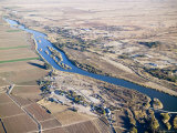 Small Dam on the Orange River near Upington, Known for Edible Grapes, South Africa Photographic Print by Michael Fay
