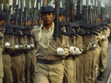 Marching Burmese Soldiers During a Dress Rehearsal for the 38th Resistance Day Parade Photographic Print by James L. Stanfield