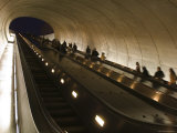 People Riding the Dupont Circle Metro Station Escalator, Washington, D.C. Photographic Print by Rich Reid