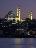 The Suleymaniye Mosque, as Seen from the Galata Bridge, Istanbul, Turkey Photographic Print by Richard Nowitz