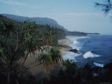View Along the Shoreline at Lumahai Beach, Kauai, Hawaii Photographic Print by Ira Block