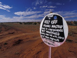 The Mokari Emergency Airstrip and Sign in the Remote Sand Desert, Australia Photographic Print by Jason Edwards